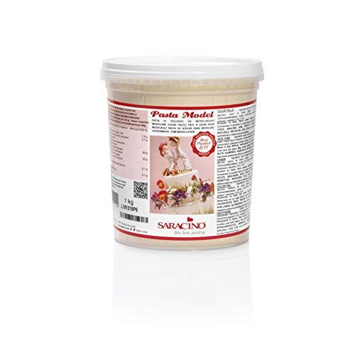 Saracino Pasta Di Zucchero Model Color Pelle Per Modellaggio Da 1 Kg Senza Glutine Made In Italy