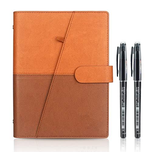 Riutilizzabile Smart Notebook, A5 Cancellabile Taccuino Archiviazione cloud per Alunno Artchitect Giornalista Scrittore(PU-Marrone)