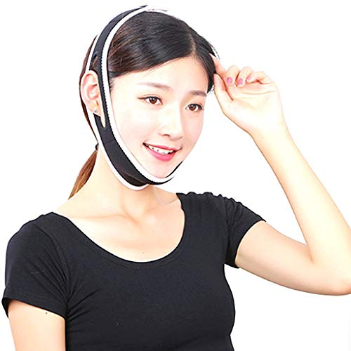 XX XiaoXIAO Ceinture Face Levage, Bandage V Visage artefact Face Levage Respirant Levage Anti-Rides Double Menton Sommeil Bandage de Massage Ceinture de Levage de Visage (Color : B)