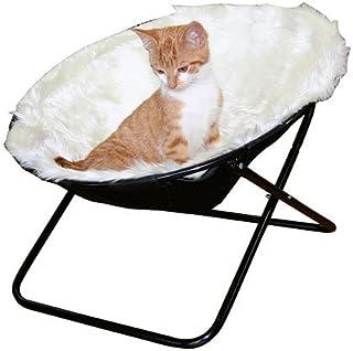 """Kerbl Liggfördjupning """"Sharon"""", solstol för katter, 50 cm diameter i vitt eller brunt (vit)"""