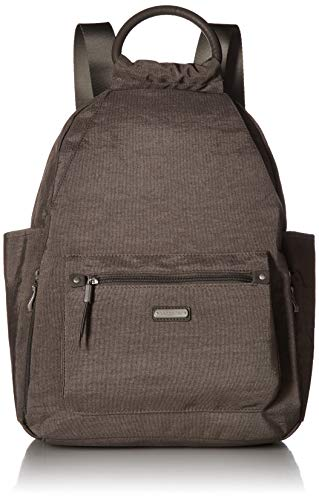 Baggallini All Day Backpack with RFID Phone Wristlet (Sterling Shimmer)