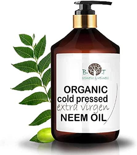 Aceite de Neem Virgen Prensado en Frío Primera Presión 100% Puro BIO Aceite vegetal Non refinado (250 ml) Azadirachtin 3123.32 ppm.