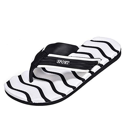 MGW Chanclas Hombre Verano Zapatillas Flip Flops Sandal Zapatos de Playa y Piscina Adecuada para hogar huéspedes hoteles dormitorios Vacaciones Ducha Viajes,Blanco,US13/EU46/UK10.5