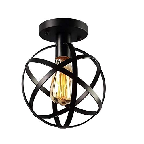 HTRUIYA Restaurant Chandelier Simple Wrought Iron Retro Industrial Style, Creative Nordic Personality Globe Chandelier (Style A)