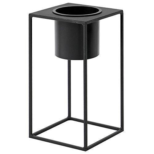 ルームアンドホーム 鉢カバー ブラック 28×15×15cm スタンド フラワーベース 花器 M モノ 植木鉢 F型