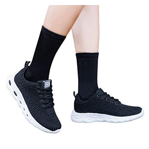 Winging zapatos deportivos de malla de gran tamaño planos para correr 35-41EU calzdo casuales transpirables antideslizantes para mujer de Color sólido de escamas de pescado