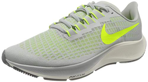 Nike Mens AIR Zoom Pegasus 37 Running Shoe, Grey Fog Volt Smoke Grey Sail, 44
