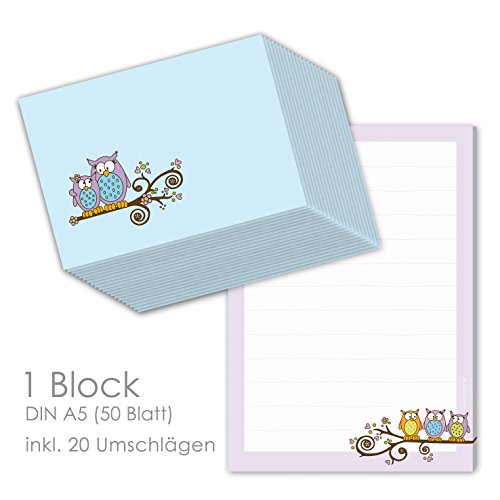 Briefpapier Set für Kinder Briefblock