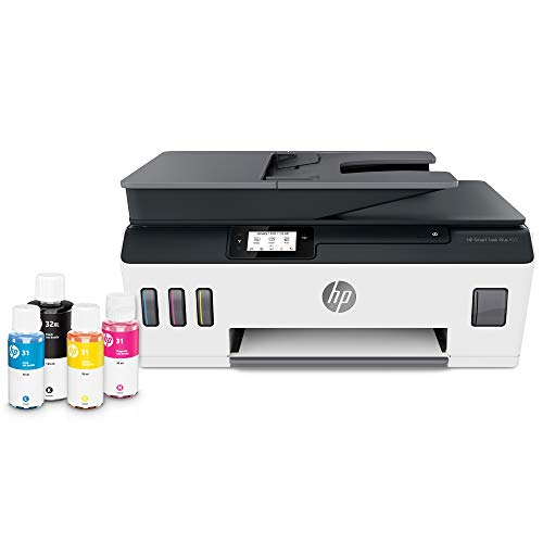 Hp Smart Tank Plus 651 Wireless All-In-One Ink Tank Printer, Up To 2 Years Of Ink In Bottles, Auto Document Feeder, Mobile Print, Scan, Copy, Works With Alexa (7Xv38A)