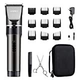 WONER Hair Trimmers, Quiet Cordless Rechargeable Hair Clippers, 16-piece Home Hair Cutting Kits, Body Hair Removal Machine for Women Father Mother Baby