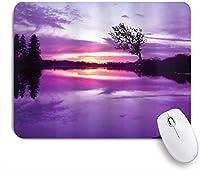 KAPANOUマウスパッド 紫色の陰の空と木のシルエットの抽象的な構成を風景します。 ゲーミング オフィス おしゃれ 耐久性が良い 滑り止めゴム底 ゲーミングなど適用 マウス 用ノートブックコンピュータマウスマット