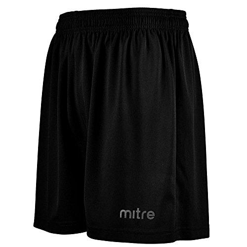 mitre Metric 2 Short d'entraînement Mixte Adulte, Noir, FR : S (Taille Fabricant : S/M)