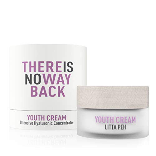 Litta Peh - Youth Cream - Crema Hidratante Facial con Ácido Hialurónico - Tratamiento Orgánico Antiarrugas - 50ml