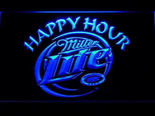 Miller Lite Happy Hour Beer Bar LED Neon Light Sign Man Cave 605-B