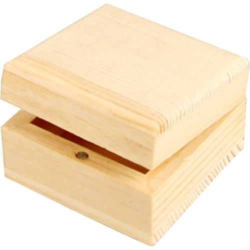 Creativ - Portagioie in legno, piccolo, con chiusura magnetica