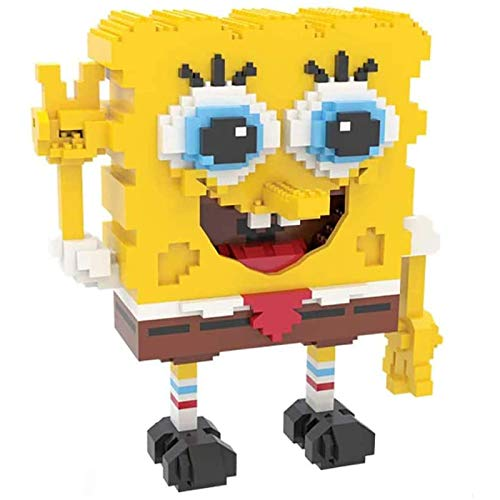 Makfacp Spongebob Squarepants 3D Lindos Mini Ladrillos de partículas de Diamantes, interesantes y creativos Juguetes para niños de Bricolaje, Regalos