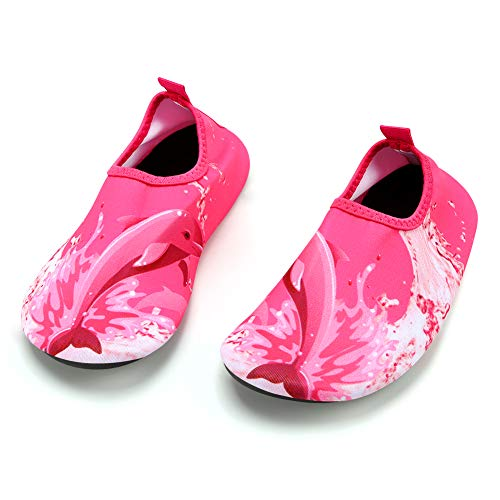 Zapatos de Agua Niño Qimaoo Zapatos de Agua de Natación Niños Zapatos de Playa para Niños Descalzo Barefoot Agua Respirable Calcetines para la Aire Libre Piscina de Playa Surf