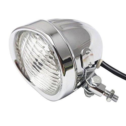 Gazechimp Motorrad LED Blinker Licht Kopf-Licht Scheinwerfer Für Harley Bobber Chopper Softail Springer Chrom Klar