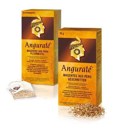2x25 Filterbeutel Anguraté Magentee aus Peru. Bei leichten Magen-Darm-Störungen wie Völlegefühl, Verdauungsbeschwerden, Blähungen, gelegentlichem Sodbrennen und nach Alkoholgenuss