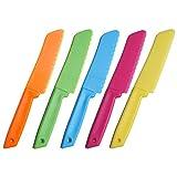 jky 10-teiliges Kunststoff-Küchenmesser Set in 5 Farben für Kinder, für Blattsalat,...