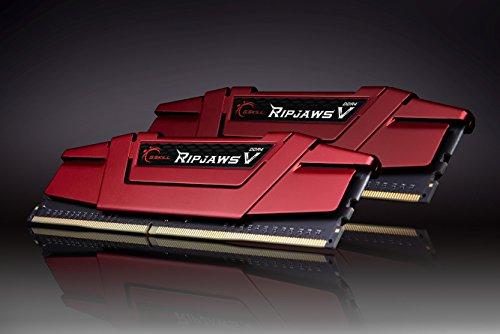 G.Skill Ripjaws V F4-3600C19D-16GVRB módulo de - Memoria (16 GB, 2 x 8 GB, DDR4, 3600 MHz, 288-pin DIMM, Rojo)