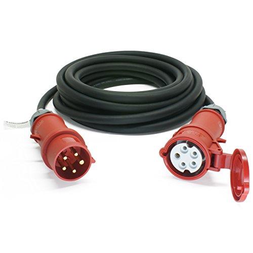ENECEN 1132640 CEE-Verlängerungskabel 400V/32A IP44 Gummi H07RN-F 5x6 mm² mit ST/KU 5-polig 40m