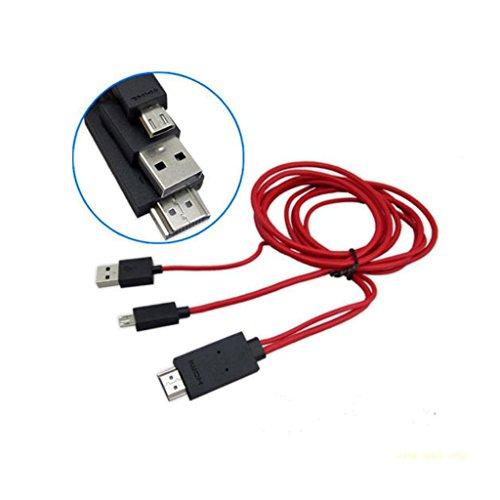 Sharplace AV TV Cable Micro USB MHL Al HDMI TVAD Adaptador para Samsung Note 2 3 S3 S4
