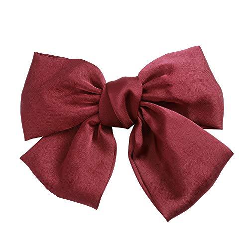 Stoffschleife für Frauen und Mädchen mit großem Rückenclip (rot)