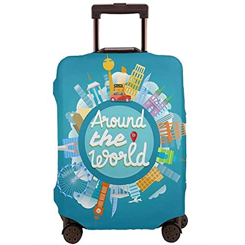 Go Travel Funda de Equipaje elástica de Viaje Impresa a la Moda