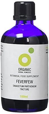 Organic Herbal Remedies Feverfew Tincture, 100 ml