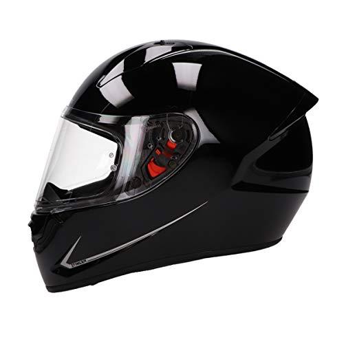 MT Stinger Integralhelm matt schwarz | Roller/Motorrad Helm Klapphelm 2mm Vizier kratzfest | inkl. eingebaute Lautsprechertaschen und kostenloser Helmmütze (schwarz, XL)