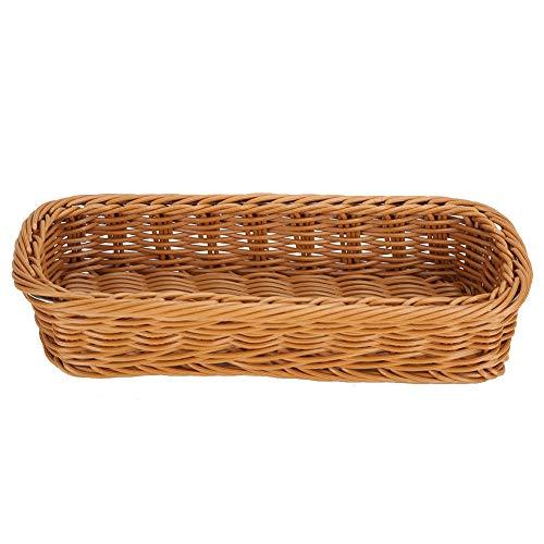 SUYANG Vajilla de escritorio cesta de almacenamiento palillos tenedor estante caja de almacenamiento hogar hotel restaurante marrón tamaño S L240xW110xH50mm