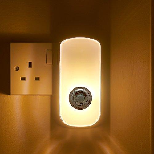 Auraglow Spina Sensore di Movimento Pir Luce Notturna Led Corridoio Sicurezza Vivente Aiuto & Emergenza Torcia - Bianco Caldo
