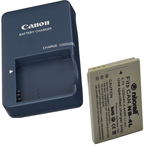 CB-2LV Battery charger for Canon NB-4L Battery and Canon PowerShot SD40, SD30, SD200, SD300, SD400, SD430, SD450, SD600, SD630, SD750, SD780 IS, SD940 IS, SD960 IS, SD1000, SD1100 IS, SD1100 IS, SD1400 IS, TX1, ELPH 100 HS, 300 HS, 310 HS, 330 HS, VIXIA mini