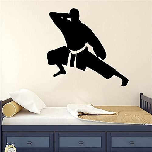Adesivi murali giapponesi per karate da uomo, decalcomanie staccabili in vinile per uso domestico, decorazione sportiva per sala karate A3 43x44cm