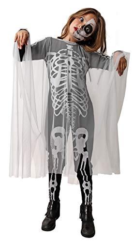 Gojoy shop- Disfraz de Skull Girl, Esqueleto para Niñas Halloween (Contiene Mono y Gasa, 4 Tallas Diferentes) (5-6 años)