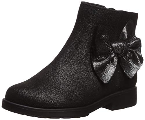 Stride Rite Girls' SR Lorraine Chelsea Boot, Black, 9 W US Toddler