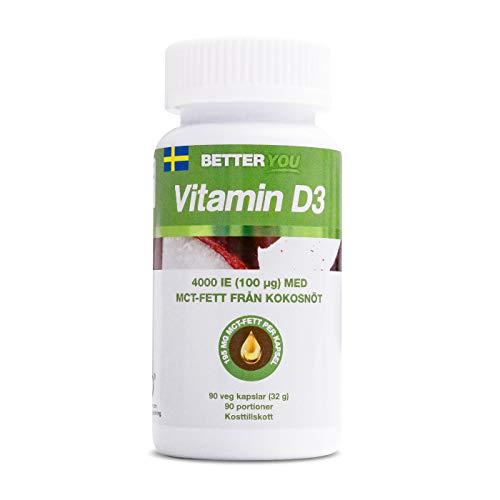 BETTER YOU Vitamin D3 4000 IU High Strength 90 Capsules