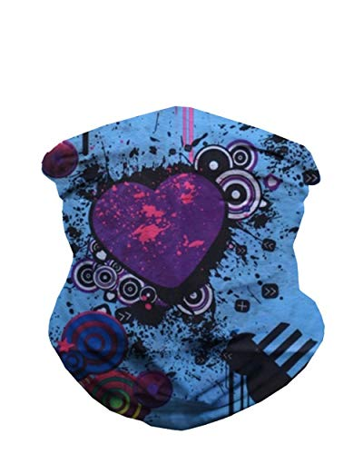 Graffiti Neck Gaiter Mask Full Face Covering - Cool Breathable Lightweight Fabric Mouth Gator for Men & Women iHeartRaves