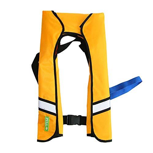 JUZIPI Chalecos Salvavidas Chaleco para Adultos, 150N Flotante Super Flotante Chaleco Salvavidas Inflable Totalmente automático, Chalecos de natación para Deportes acuáticos, Kayak, Paseos en Bote