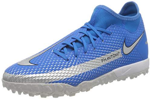 Nike Phantom GT Academy DF TF, Scarpe da Calcio Unisex-Adulto, Photo Blue/Mtlc Silver-Rage Green-Black, 42.5 EU