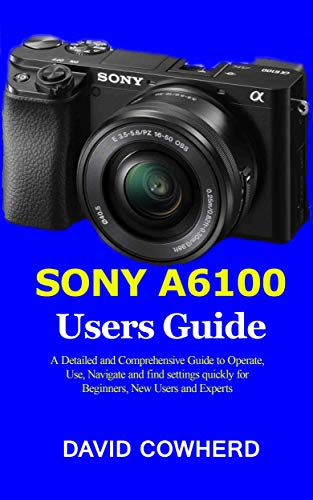 Sony A6100 Users Guide : A Detailed and Comprehensive Guide to Operate, Use, Navigate and find settings quickly for Beginners, New Users and Experts (English Edition)