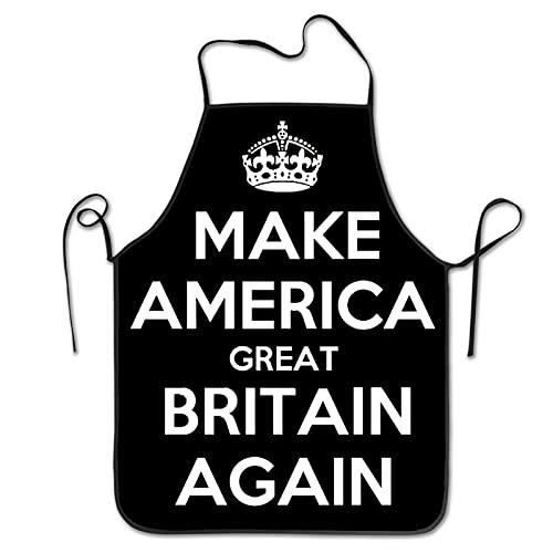Delantal de cocina Make America Gran Bretaña (2) delantal de chef para mujeres y hombres