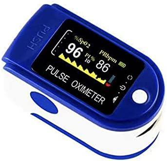 DreamEasy Oxímetro de Pulso, Pulsioximetro de Dedo Profesional con Pantalla LED para Medición de Pulso (PR) y Saturación de Oxígeno (SpO2), Lectura Instantánea