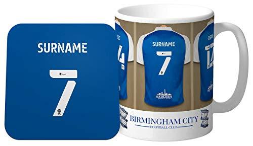 Personalised Birmingham City Dressing Room Shirts Mug & Coaster Set