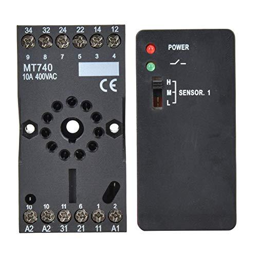 Detector de vehículos inductivos, interruptor de recuperación relé circuito de detección vehículo de circuito inductivo fabricado en funda de plástico y oro para control de acceso al aparcamiento.