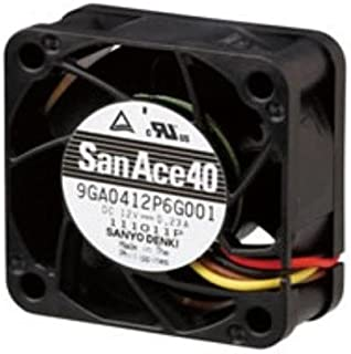 Axial Fan, San Ace 80 GA Series, 24 V, DC, 80 mm, 25 mm, 48 dBA, 73 cu.ft/min