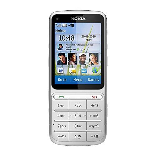 Nokia C3-01 Handy, 5 MP Kamera, silver