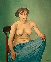 kunst für alle Art Print/Poster: Felix Edouard Vallotton Nude in Blue Fabric 1912