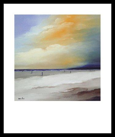 Germanposters Hans Paus Endless I Poster Bild Kunstdruck im Alu Rahmen in schwarz 60x50cm